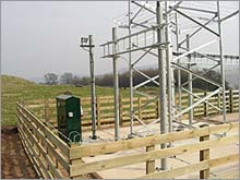 Installation of feeder cable management systems and site power.